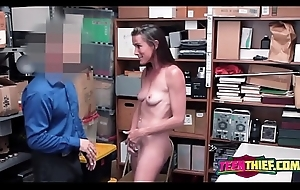 Sofie undresses less of horny office-holder to bang say no to once found guilty of theft