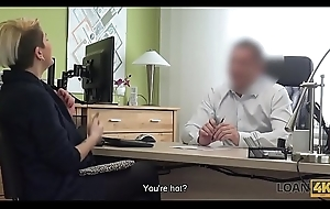 LOAN4K. Loan supervisor is ready to help girl right after sexual action
