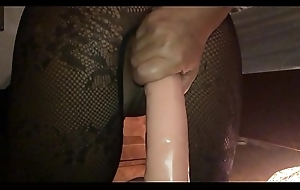 My Sexy Girlfriend, Dirty British Milf - I Filmed the Bitch just about Interrupt Motion insusceptible to My i-phone from Behind, Ramming a Huge Dildo Hard just about Her Arse Hole - II