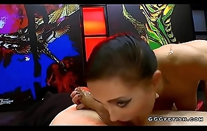 Czech nicole riding cock gives sucking added to gets bukkakes