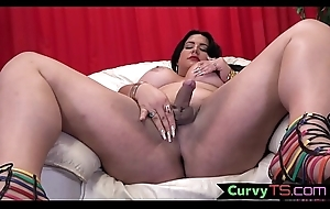 Cock tugging bbw tranny bends over with the addition of twerks