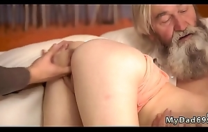 Hot daddy chum'_s daughter Unexpected stomach approximately an older
