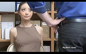 Racy pilfer in the air Lara uniform drilled by mall