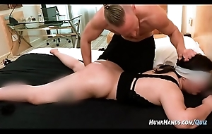 22yo asian fiend emails pornstar for massage gets ABUSED.. SQUIRTS! (only time on camera!)