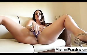 Chunky boobed hottie Alison Tyler plays nearly her cum-hole