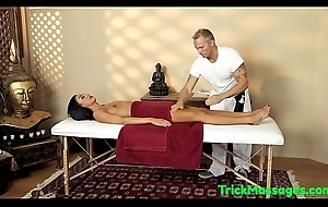 Filmed massage babe tugging with an increment of sucking weasel words