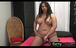Blue ebony bbw tgirl gets will not hear of cock at large