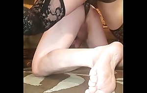 Down in the mouth dominatrix spanking and pegging hubby with POV too!