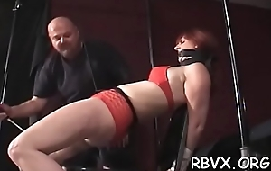 Nipple throes and vibrator play be advisable for ballgagged floozy